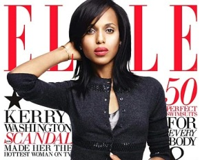 KERRY WASHINGTON COVERS JUNE'S ELLE COVER