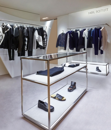 Neil Barrett at Harvey Nichols Zaha Hadid Shop Fit 1